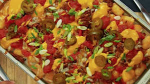 Tater tot nachos don't require any tortilla chips