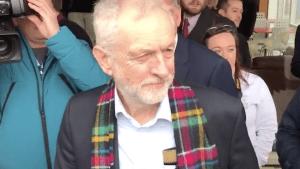 Jeremy Corbyn heckled by Scottish church minister