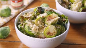 Rosemary parm brussels sprouts are the best