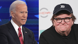 Michael Moore rips Joe Biden on a rough night for the former VP