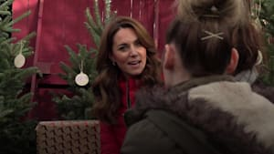 Kate gets into festive spirit with visit to Christmas tree farm