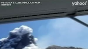 Brazilian tourists capture New Zealand eruption from nearby boat
