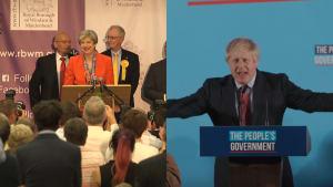 Election victory speeches: Theresa May VS Boris Johnson
