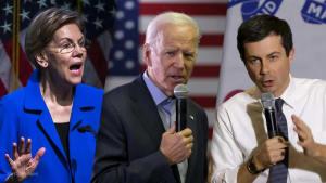 Warren, dipping in the polls, attacks Biden and Buttigieg