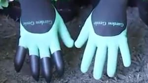 Clawed gloves could help you with gardening