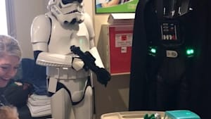 Darth Vader met a Star Wars fan in the hospital