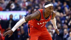 Toronto Raptors' Rondae Hollis-Jefferson Takes On CN Tower's Glass Floor