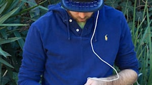 This hat with solar panels on it can charge your phone