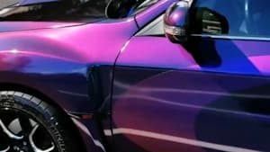 This car changes color right before your eyes