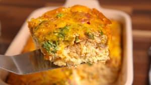 Wake up for this loaded cauliflower breakfast bake