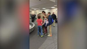 Army dad has surprise reunion with his kids