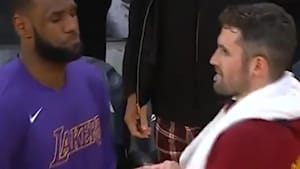 LeBron remembers his handshakes with former teammates