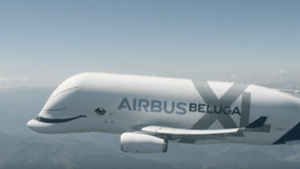 This massive airbus resembles a beluga whale