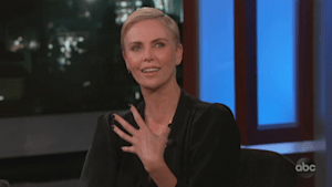 Charlize Theron recalls hilariously awkward kiss