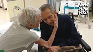 Elderly couple's emotional reunion shows true love