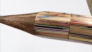 Colored pencil is made of hundreds of smaller ones
