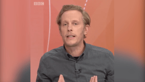Laurence Fox clashes with Question Time audience member as he says Meghan Markle racism row is 'boring'