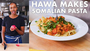 Hawa makes Somali pasta