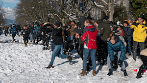 Inclement Weather Is No Issue For UBC's Annual Snowball Fight