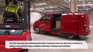 Der neue Opel Vivaro Kapazitätsdemonstration