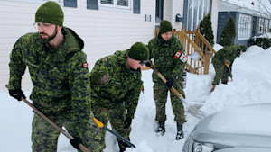 Canadian Forces Get To Work Following Newfoundland Blizzard Aftermath