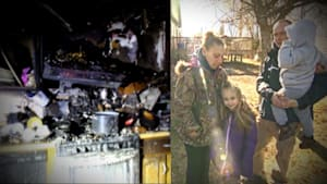 6-year-old girl saves family from house fire