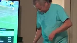 Daughter Tricks Dad Into Popping Balloon Filled With Water