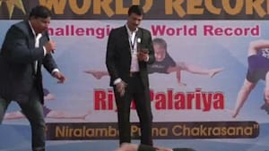 11-year-old girl breaks yoga world record