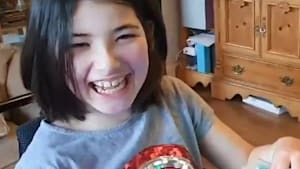 Little girl is overjoyed about accessible game