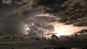 Stunning timelapse captures extreme weather
