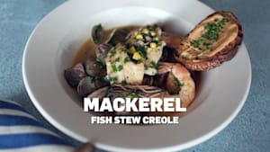 Mackerel fish stew creole