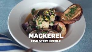 Mackerel fish stew creole