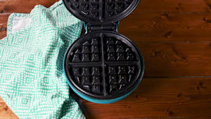 Valentine's Day waffle iron brownies