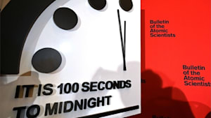 """Die """"Weltuntergangsuhr"""" steht auf 100 Sekunden vor zwölf"""