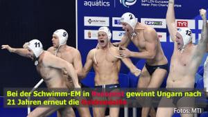 Schwimm-EM: Ungarn gewinnt Wasserball Finale!