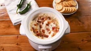 Slow cooker jalapeño popper dip