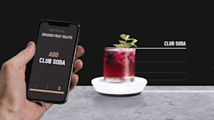 Barsys smart coaster helps you mix over 2,000 different cocktails