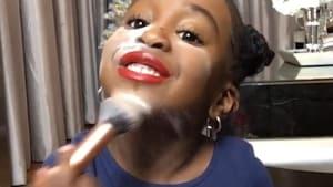 Little girl makes the cutest makeup tutorial