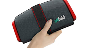 This is a portable booster seat