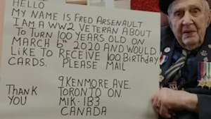 All This War Vet Wants For His 100th Birthday Are Cards From Canadians