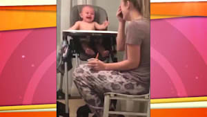 Watch this baby's reaction to mom's fake sneeze