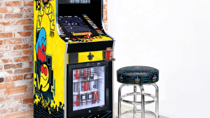 Pac-Man arcade with a fridge built-in is epic