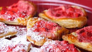 Heart-shaped breakfast pastry brings the romance