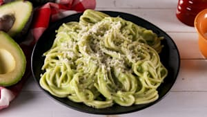 Avocado alfredo sauce will impress your guests