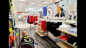 Target ad showing boy in wheelchair bonds families