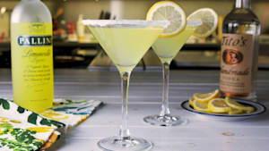 Lemon drop martini is a cocktail party favorite