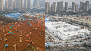 Video shows Wuhan hospital being built in 10 days
