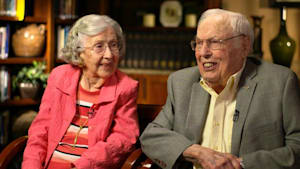 World's oldest married couple share their love