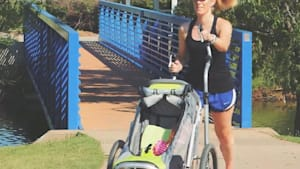 Stroller and an elliptical all rolled into one