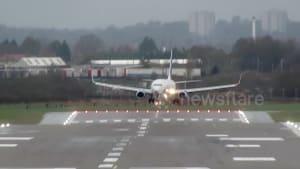 Terrifying bumpy landings at UK airport in Storm Dennis crosswinds